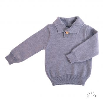 Troyer Pullover Wolle Gestrickt