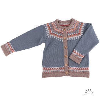 Cardigan Style LILY Wolle gestrickt