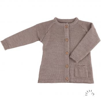 Cardigan OLIVE Wolle Gestrickt