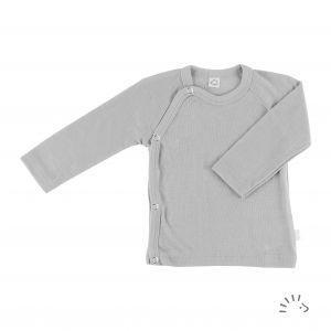 Wickelhemd 1/1 Arm Wolle-Seide GOTS