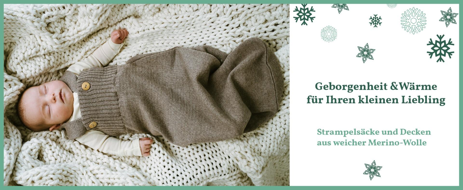 Strampelsäcke&Decken Merino-Wolle